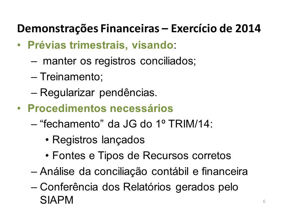 Demonstrações Financeiras – Exercício de 2014