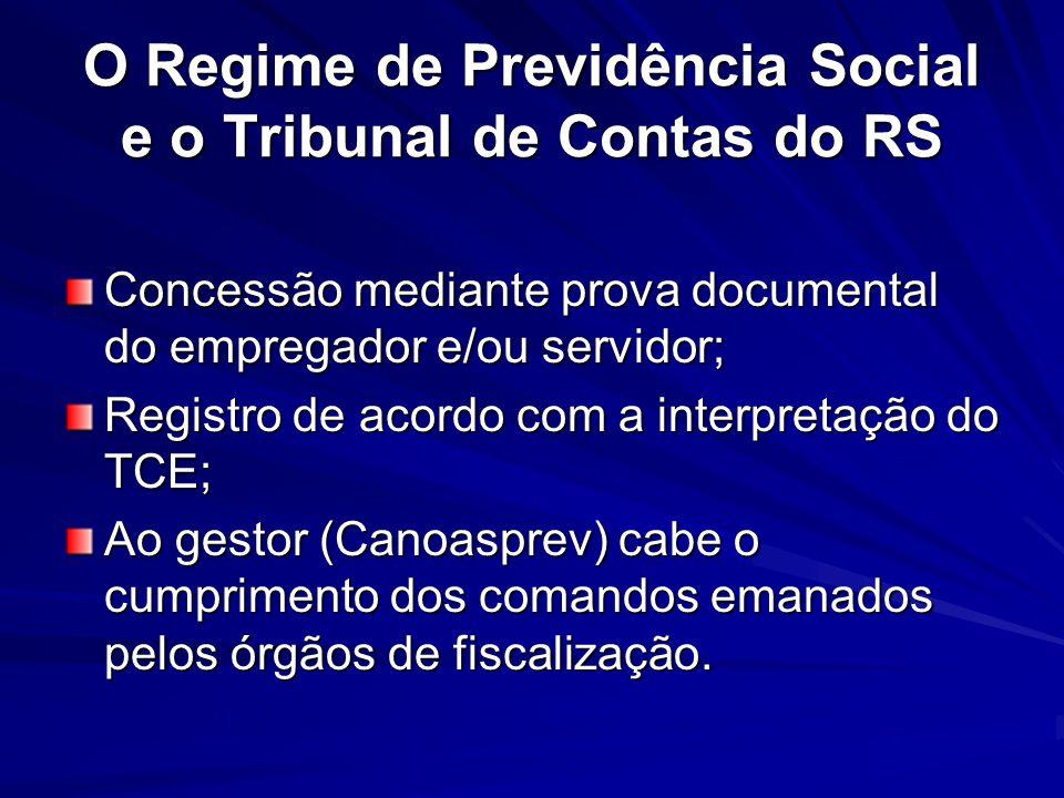 O Regime de Previdência Social e o Tribunal de Contas do RS