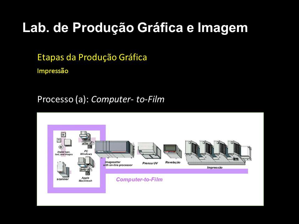 Etapas da Produção Gráfica Impressão Processo (a): Computer- to-Film