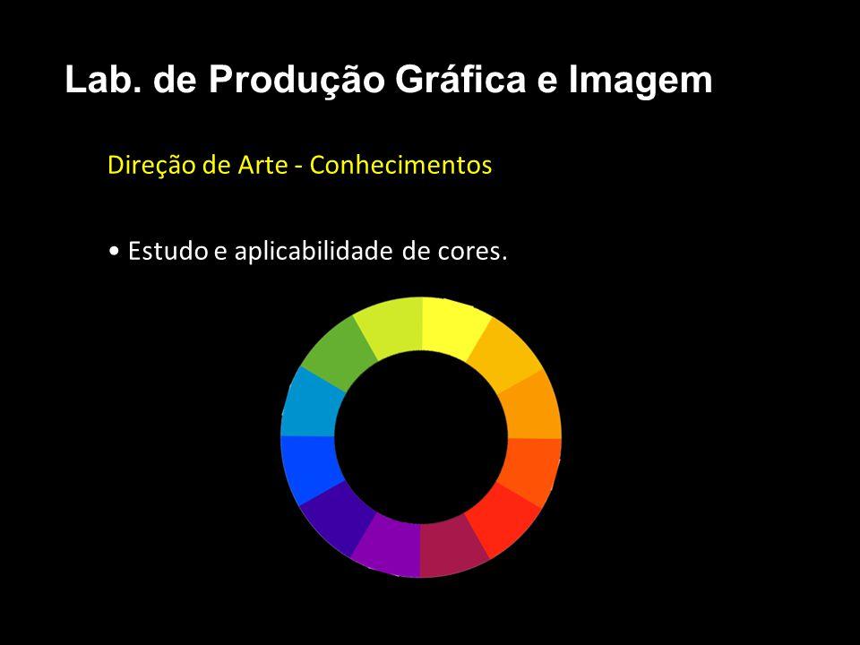 Direção de Arte - Conhecimentos • Estudo e aplicabilidade de cores.