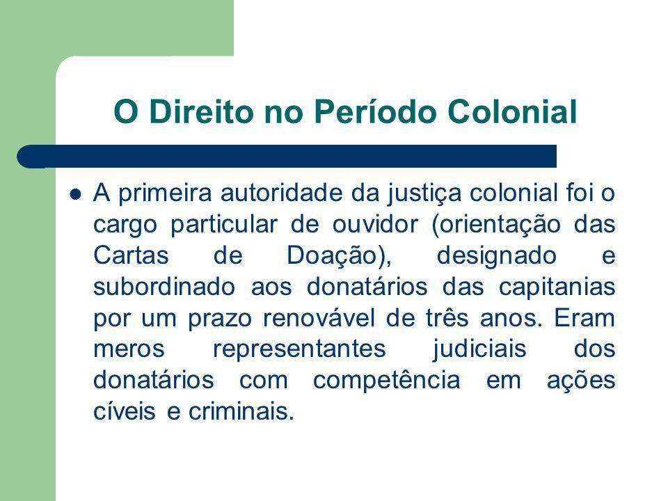 O Direito no Período Colonial