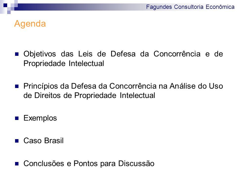 Agenda Objetivos das Leis de Defesa da Concorrência e de Propriedade Intelectual.