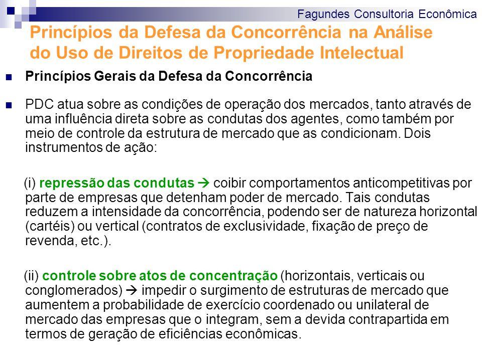 Princípios da Defesa da Concorrência na Análise do Uso de Direitos de Propriedade Intelectual