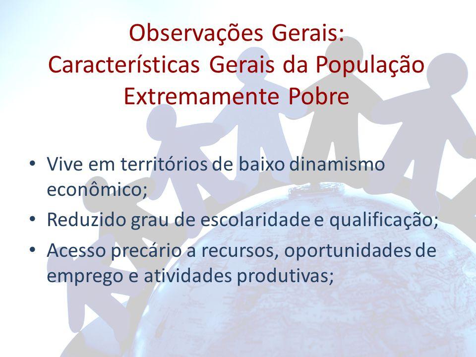 Observações Gerais: Características Gerais da População Extremamente Pobre
