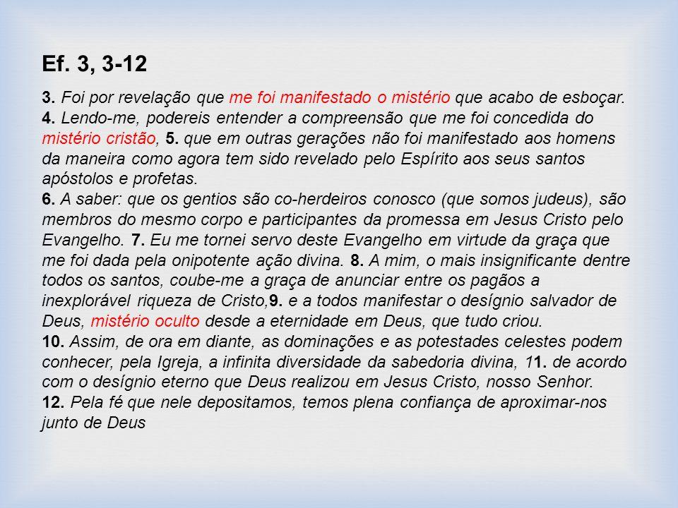 Ef. 3, 3-12