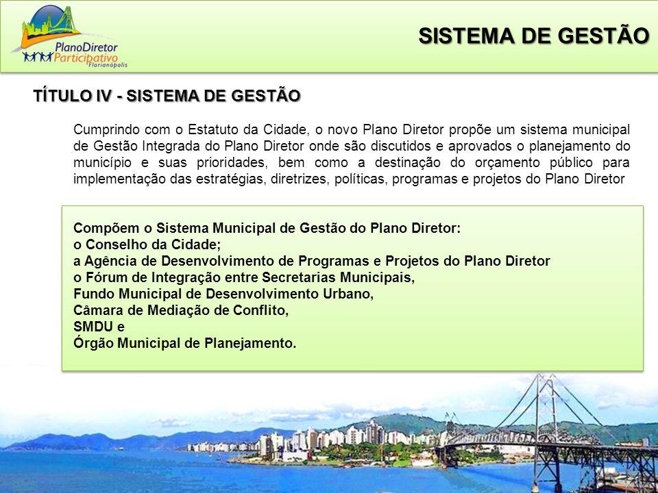 SISTEMA DE GESTÃO TÍTULO IV - SISTEMA DE GESTÃO
