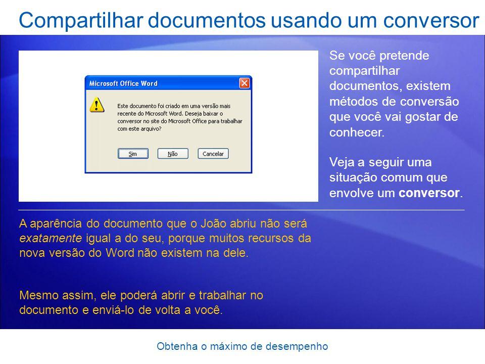 Compartilhar documentos usando um conversor