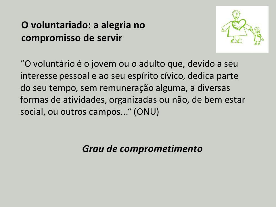 O voluntariado: a alegria no compromisso de servir