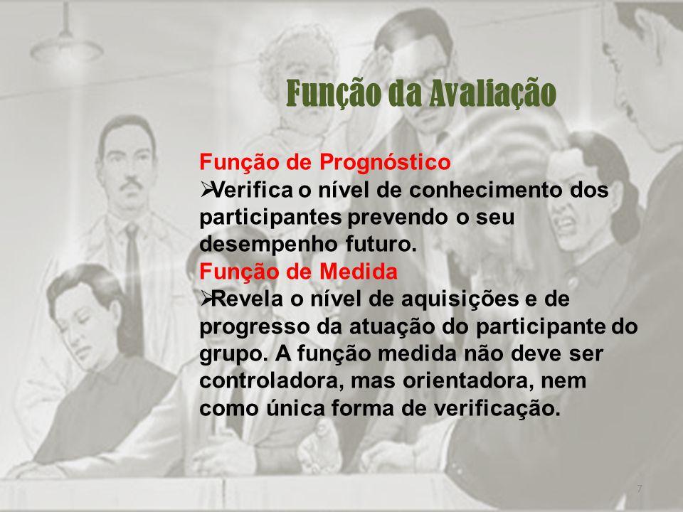 Função da Avaliação Função de Prognóstico
