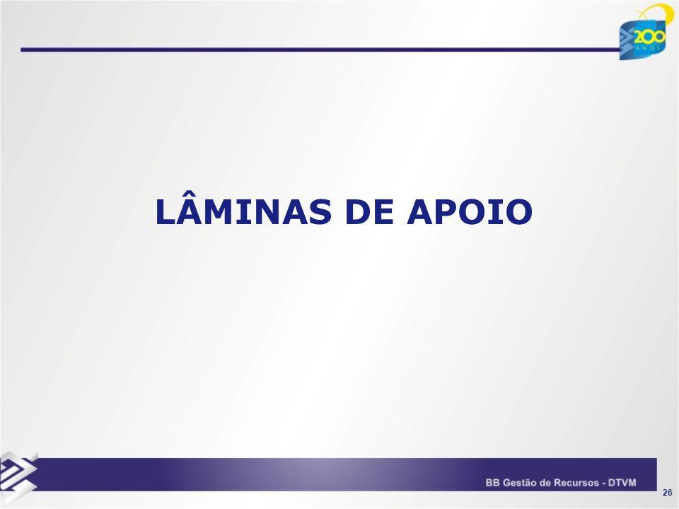 LÂMINAS DE APOIO