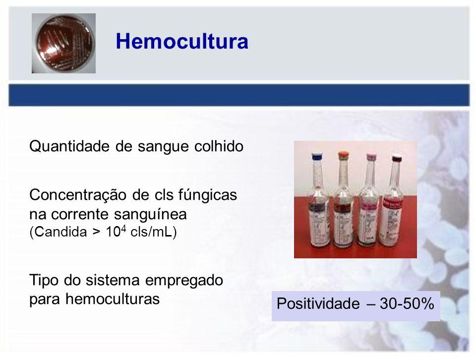 Hemocultura Quantidade de sangue colhido