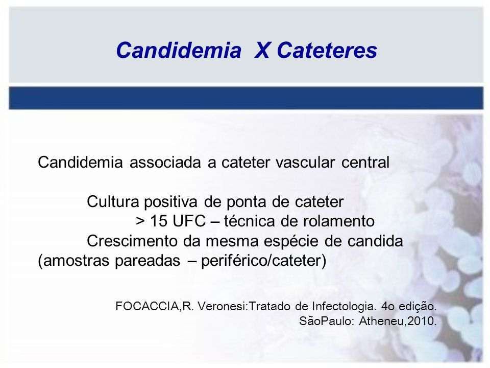 Candidemia X Cateteres