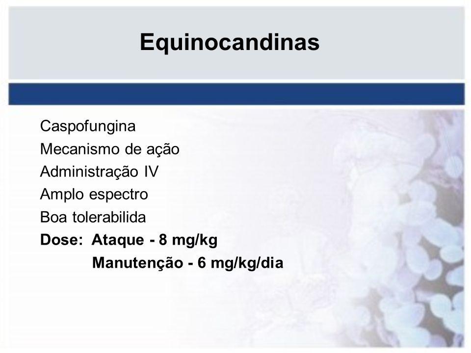 Equinocandinas Caspofungina Mecanismo de ação Administração IV
