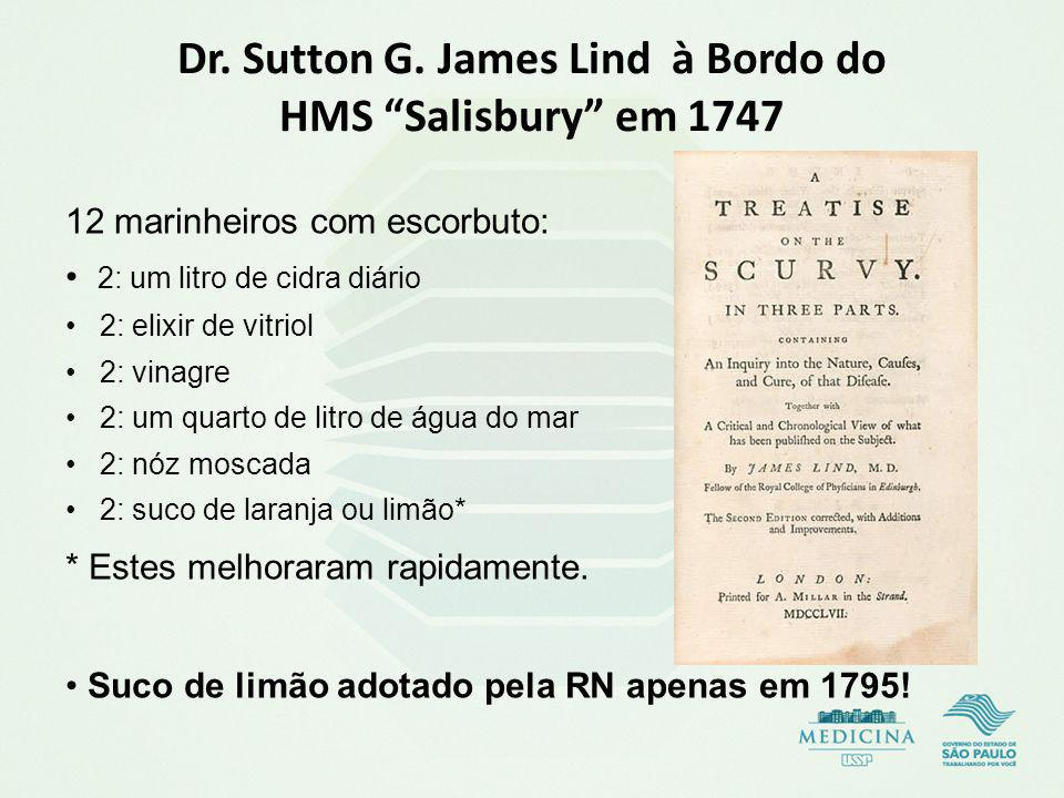 Dr. Sutton G. James Lind à Bordo do HMS Salisbury em 1747