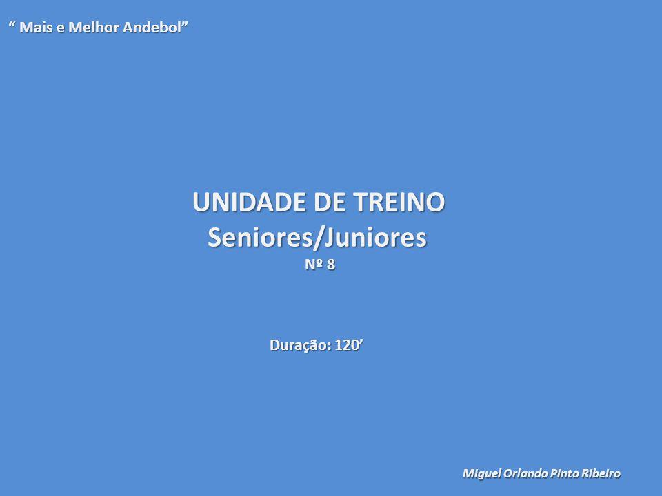 UNIDADE DE TREINO Seniores/Juniores Mais e Melhor Andebol Nº 8