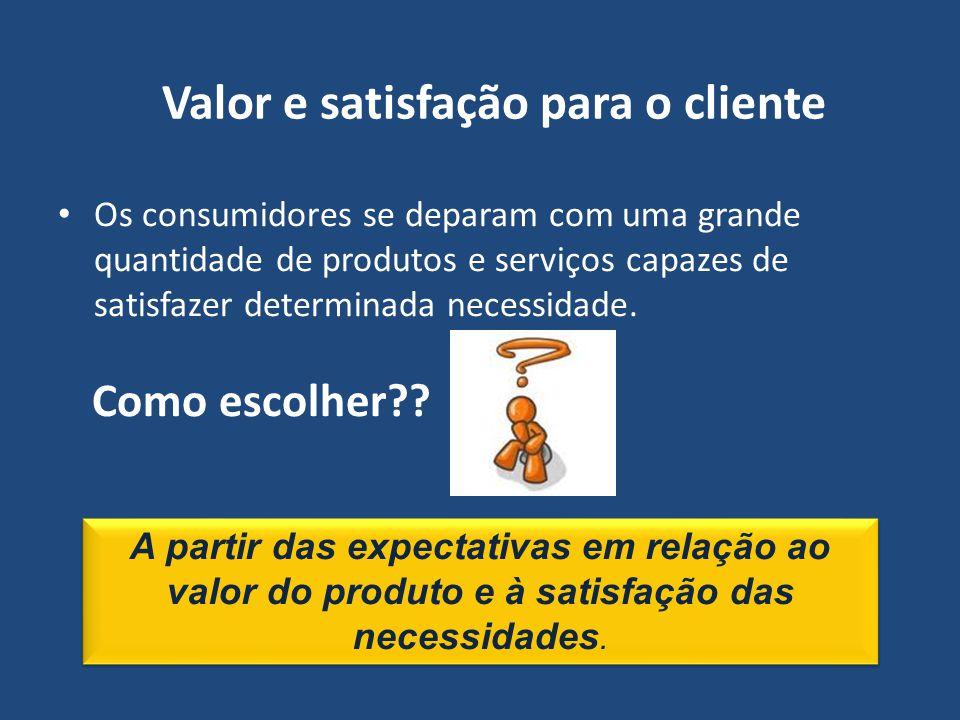 Valor e satisfação para o cliente