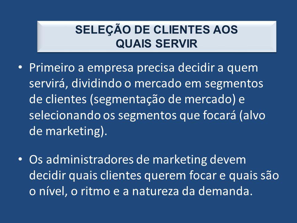 SELEÇÃO DE CLIENTES AOS QUAIS SERVIR