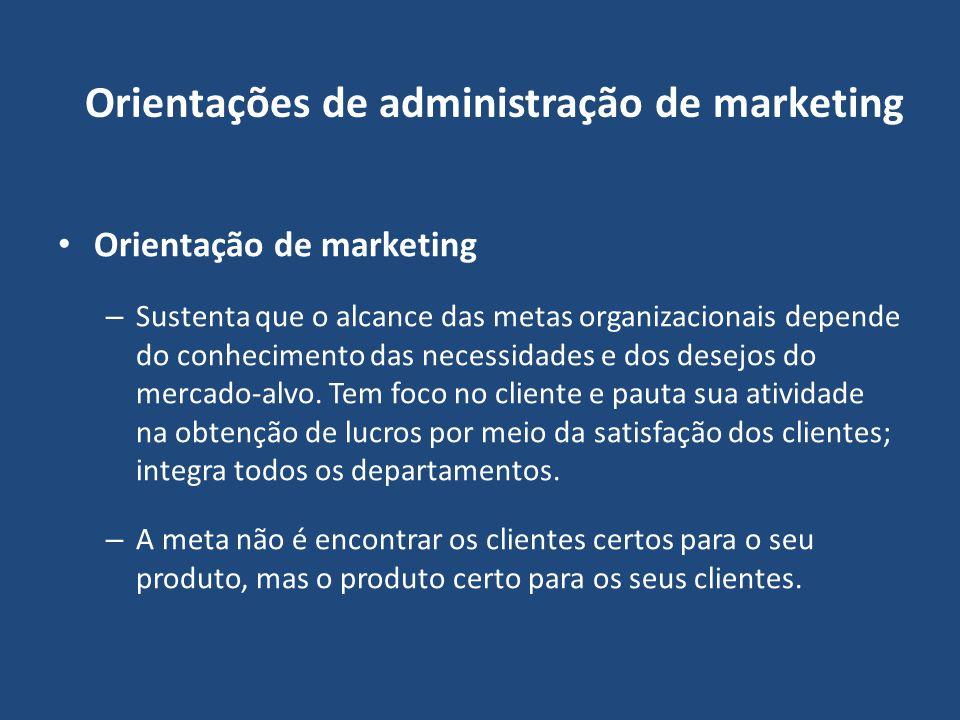 Orientações de administração de marketing