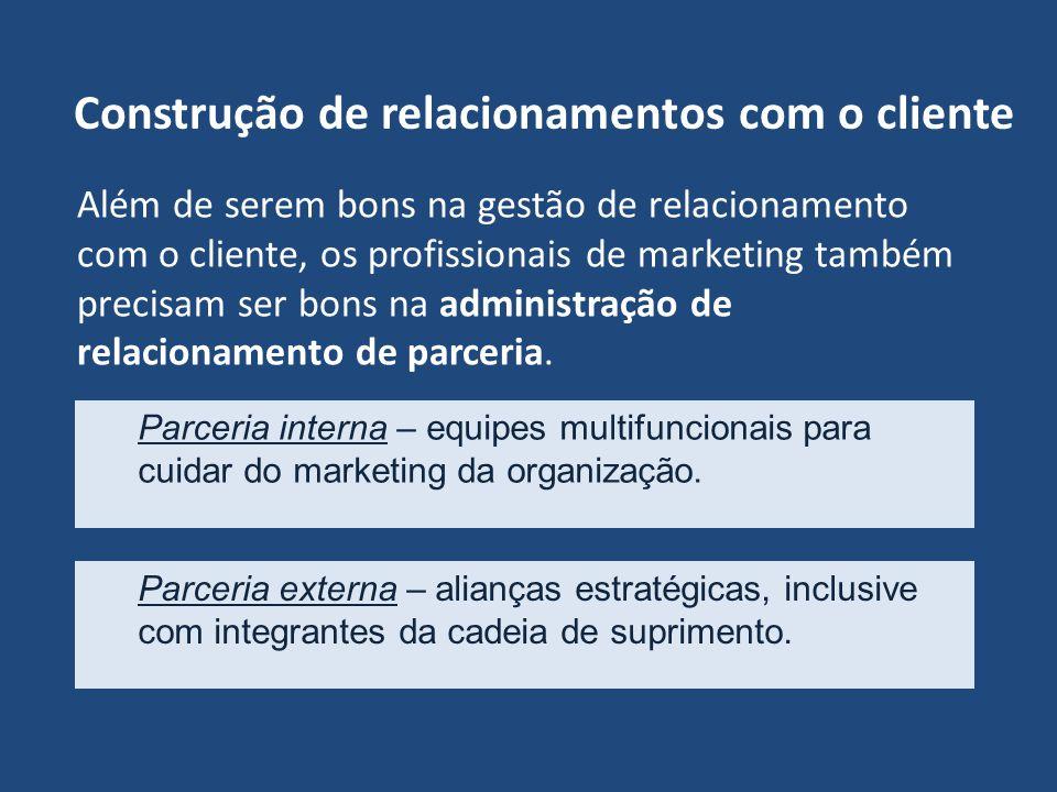 Construção de relacionamentos com o cliente