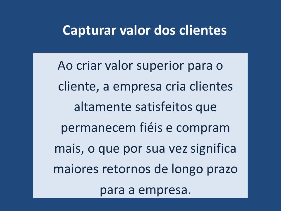 Capturar valor dos clientes