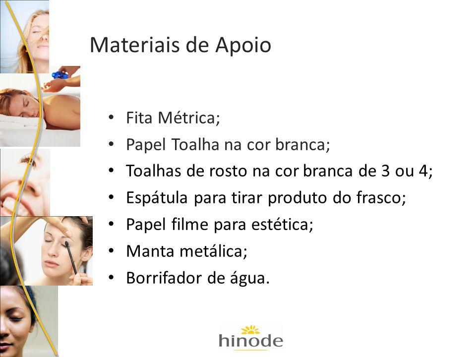 Materiais de Apoio Fita Métrica; Papel Toalha na cor branca;