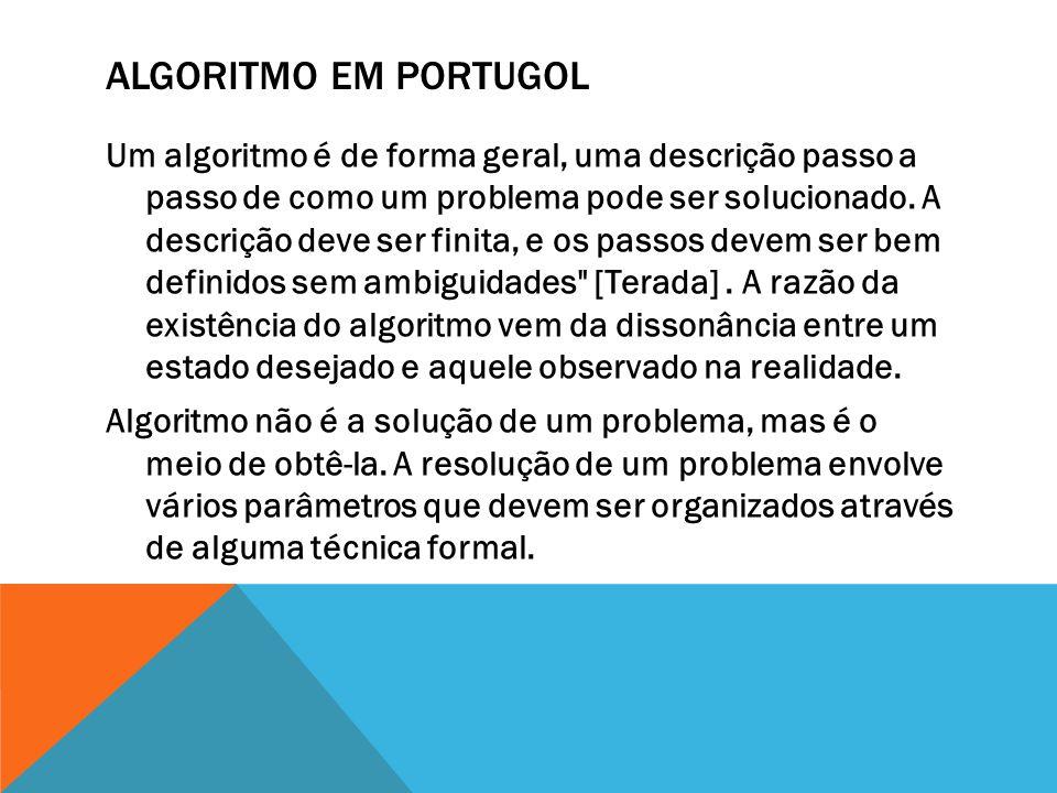 Algoritmo em Portugol