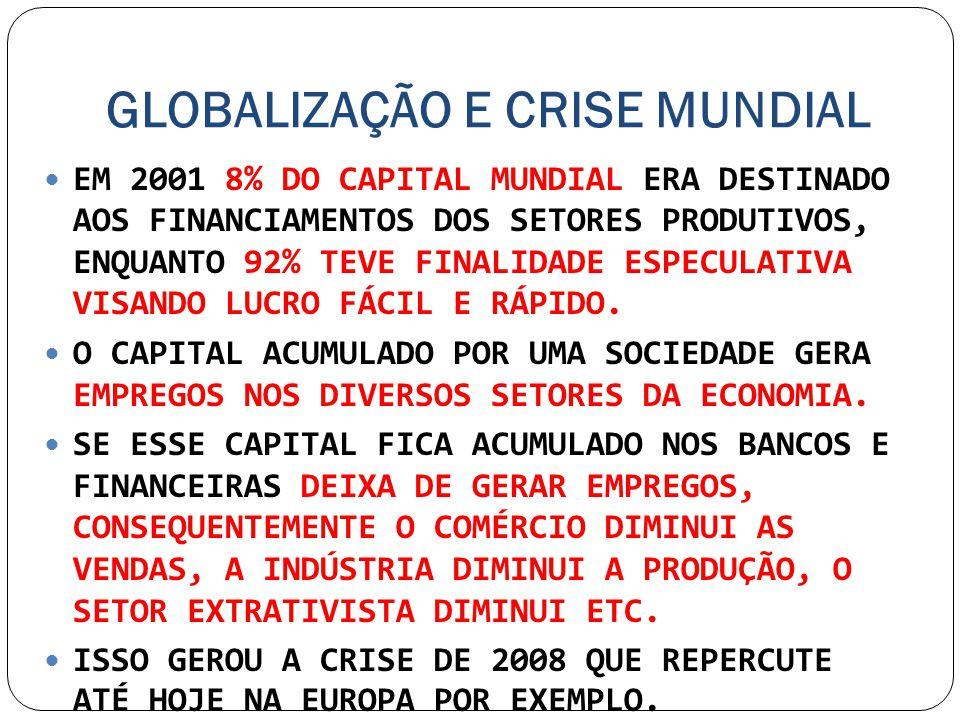 GLOBALIZAÇÃO E CRISE MUNDIAL