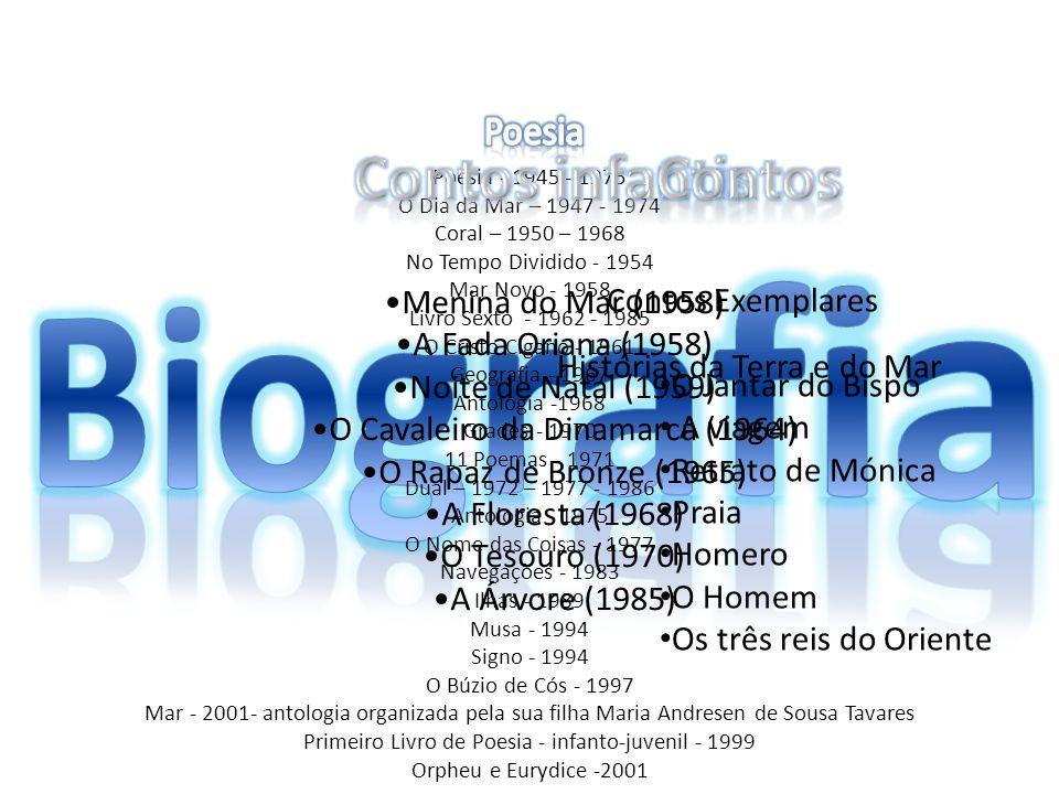 Biografia Contos infantis Contos Poesia Menina do Mar (1958)