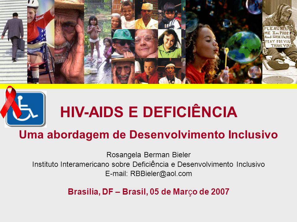 HIV-AIDS E DEFICIÊNCIA Uma abordagem de Desenvolvimento Inclusivo