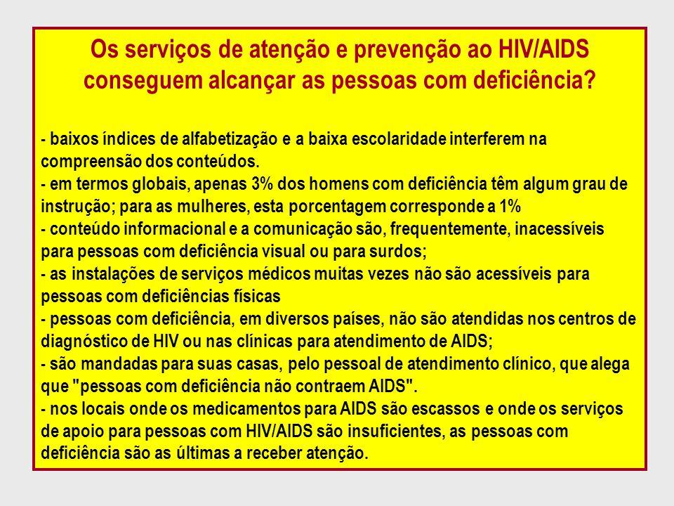Os serviços de atenção e prevenção ao HIV/AIDS conseguem alcançar as pessoas com deficiência