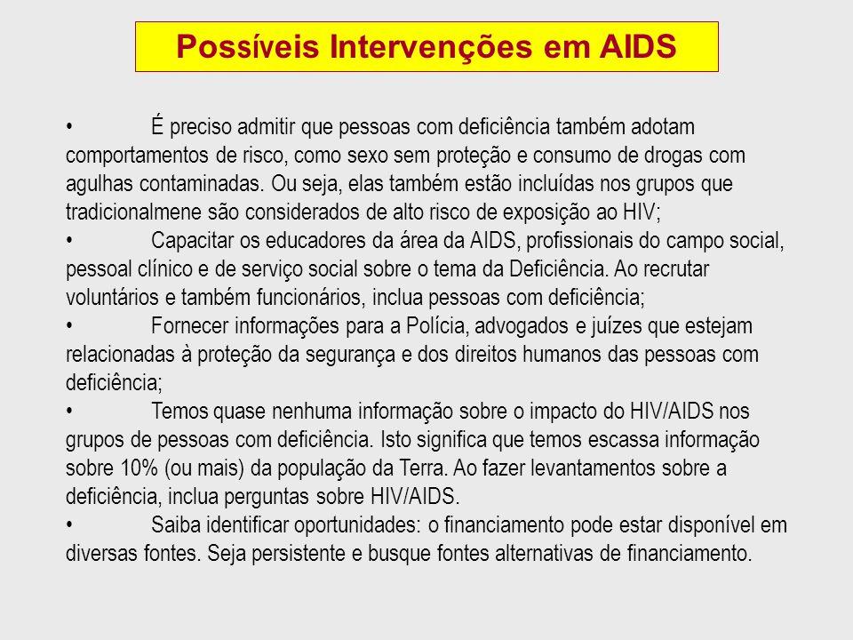 Possíveis Intervenções em AIDS
