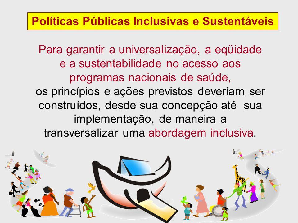 Políticas Públicas Inclusivas e Sustentáveis