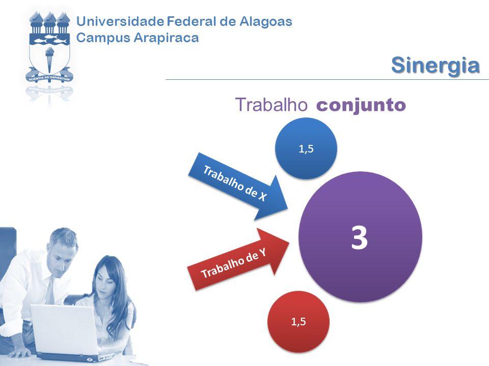 3 Sinergia Trabalho conjunto Universidade Federal de Alagoas