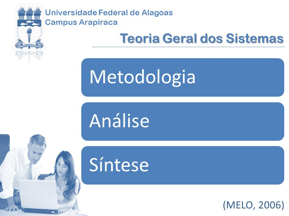 Metodologia Análise Síntese Teoria Geral dos Sistemas (MELO, 2006)