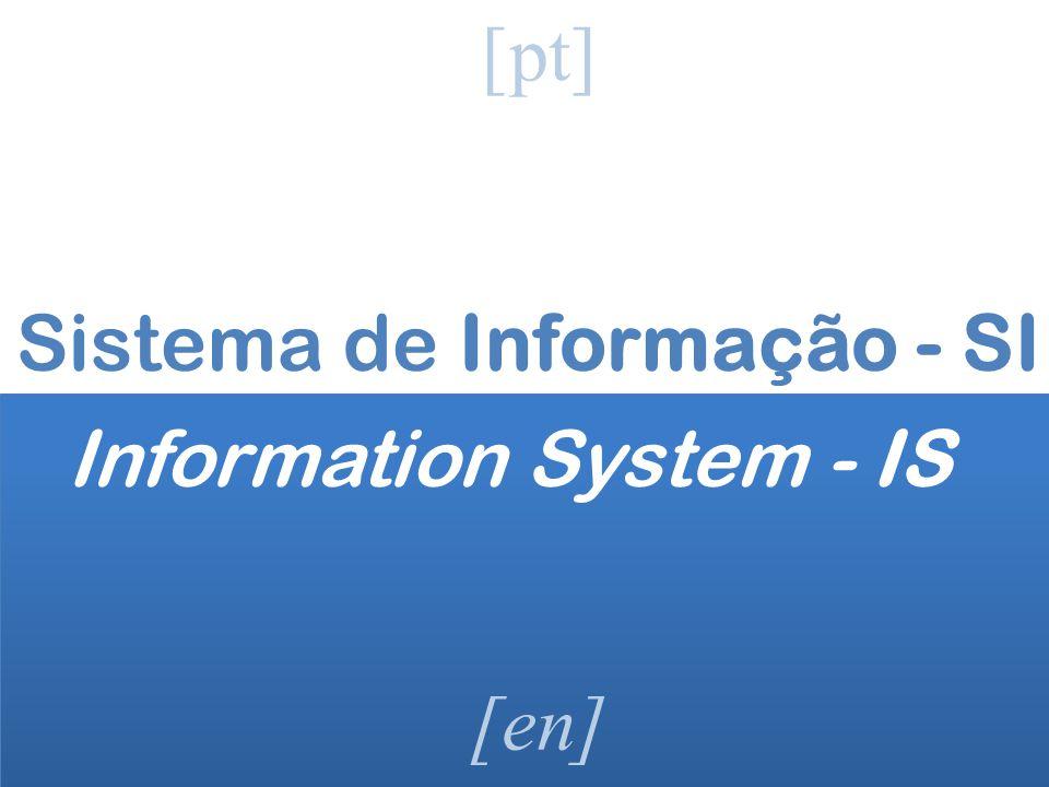 Sistema de Informação - SI Information System - IS
