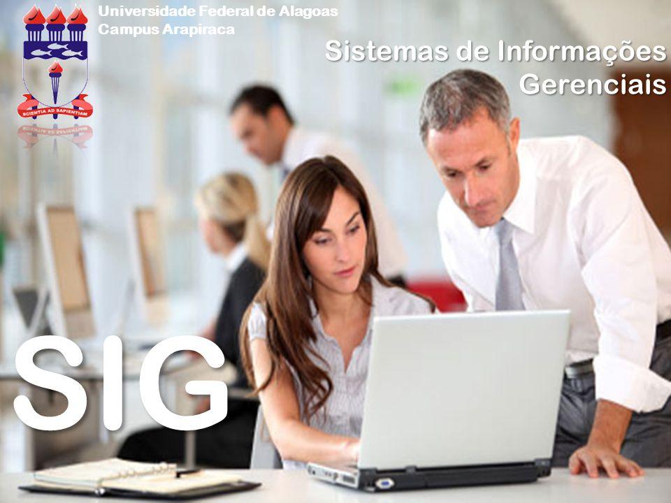 SIG Sistemas de Informações Gerenciais Universidade Federal de Alagoas