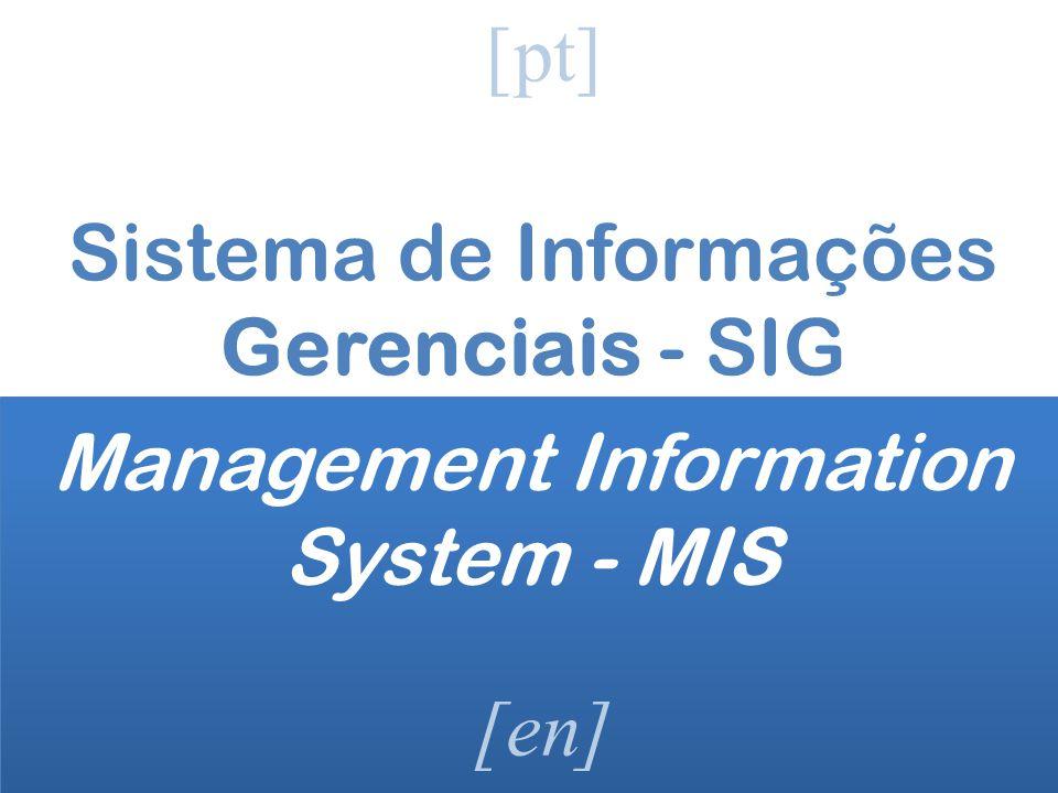 Sistema de Informações Gerenciais - SIG