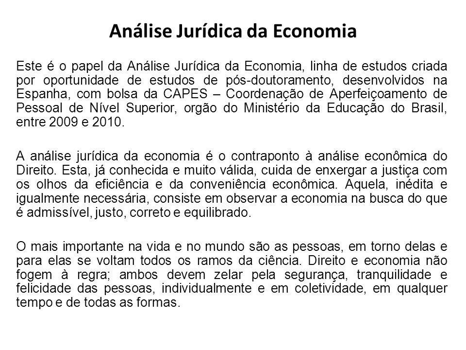 Análise Jurídica da Economia