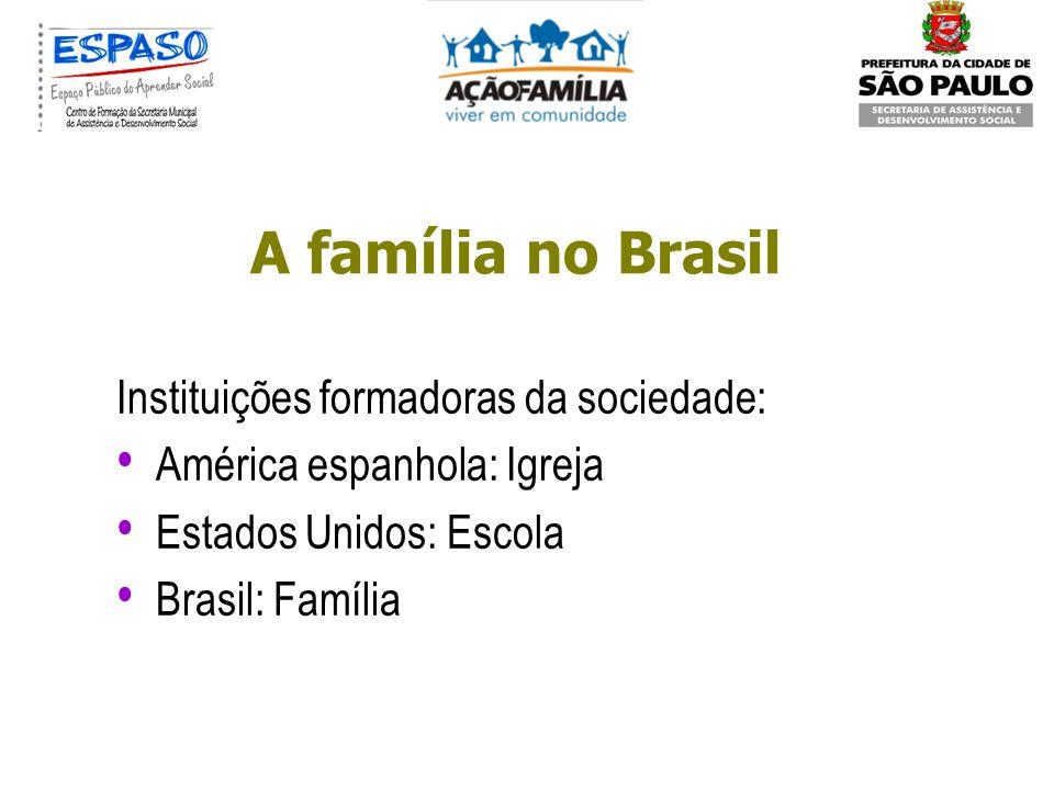 A família no Brasil Instituições formadoras da sociedade:
