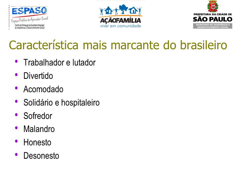 Característica mais marcante do brasileiro