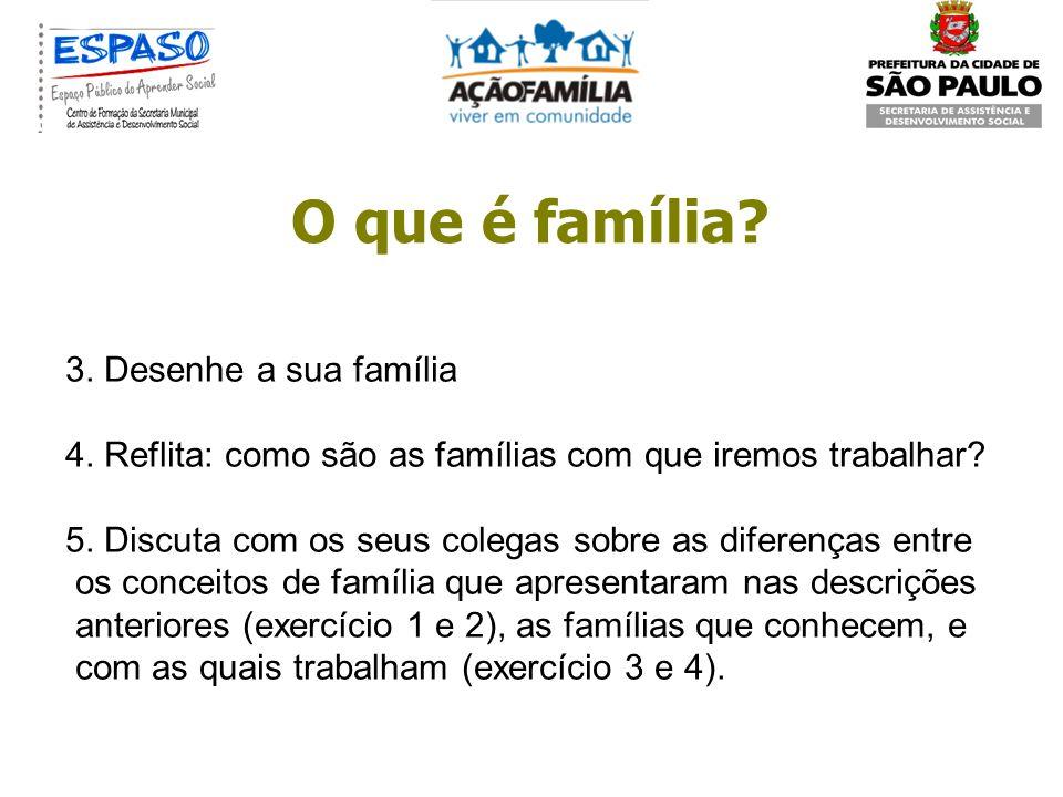 O que é família 3. Desenhe a sua família