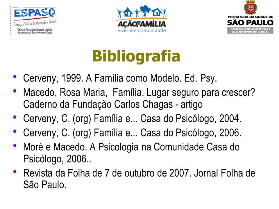 Bibliografia Cerveny, 1999. A Família como Modelo. Ed. Psy.