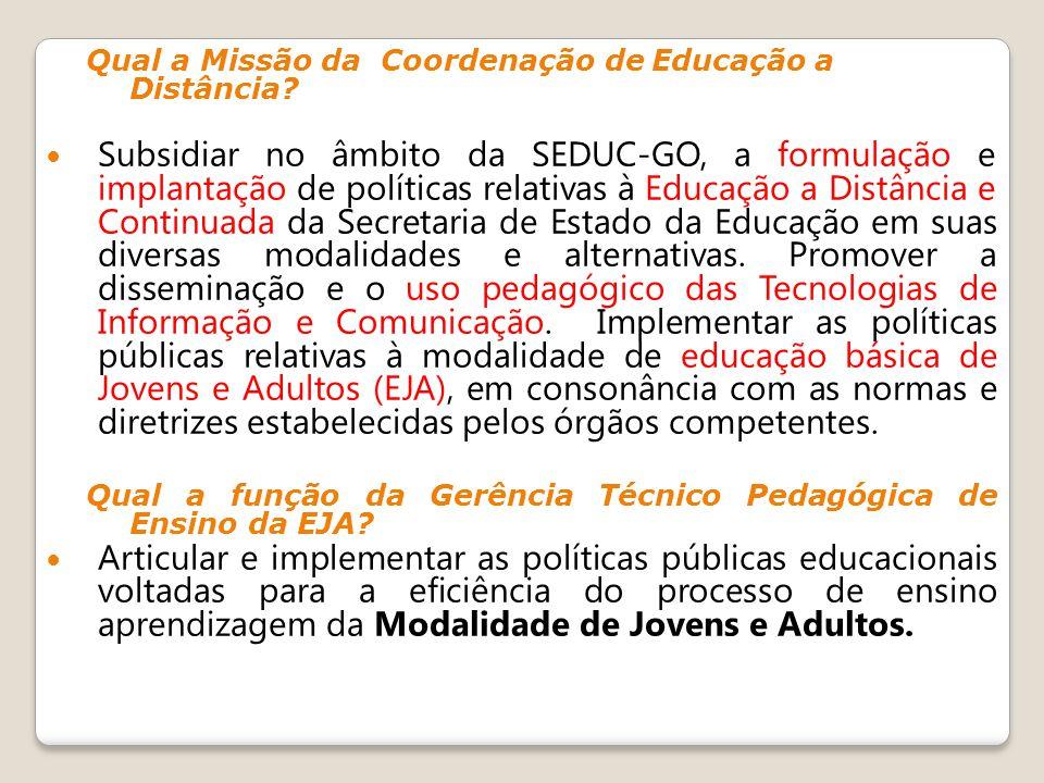Qual a Missão da Coordenação de Educação a Distância