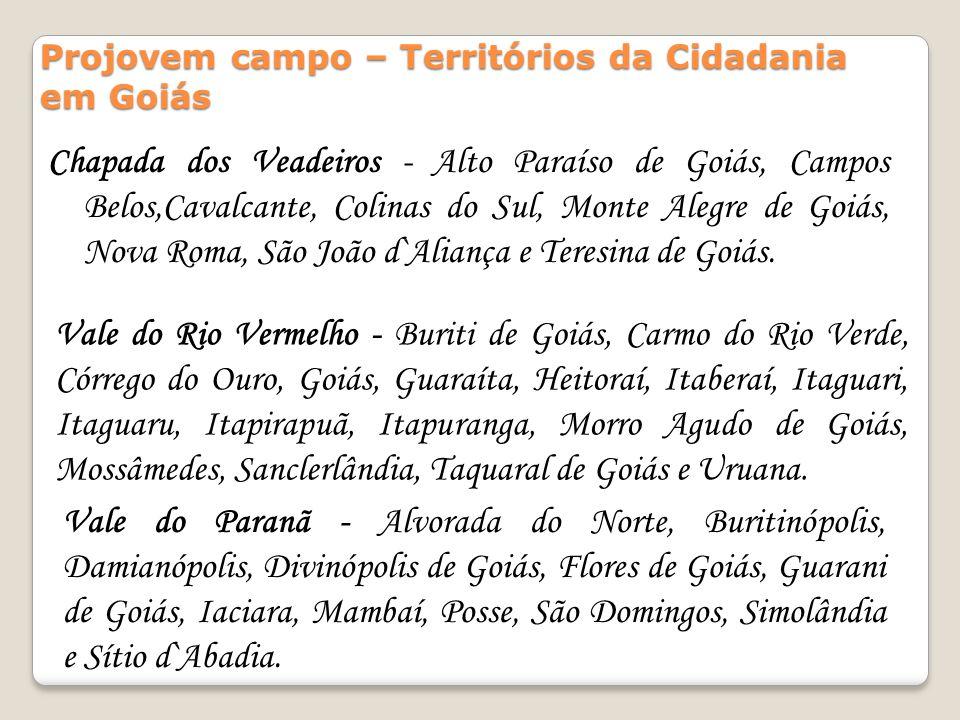 Projovem campo – Territórios da Cidadania em Goiás