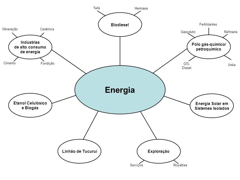 Energia Biodiesel Indústrias de alto consumo de energia