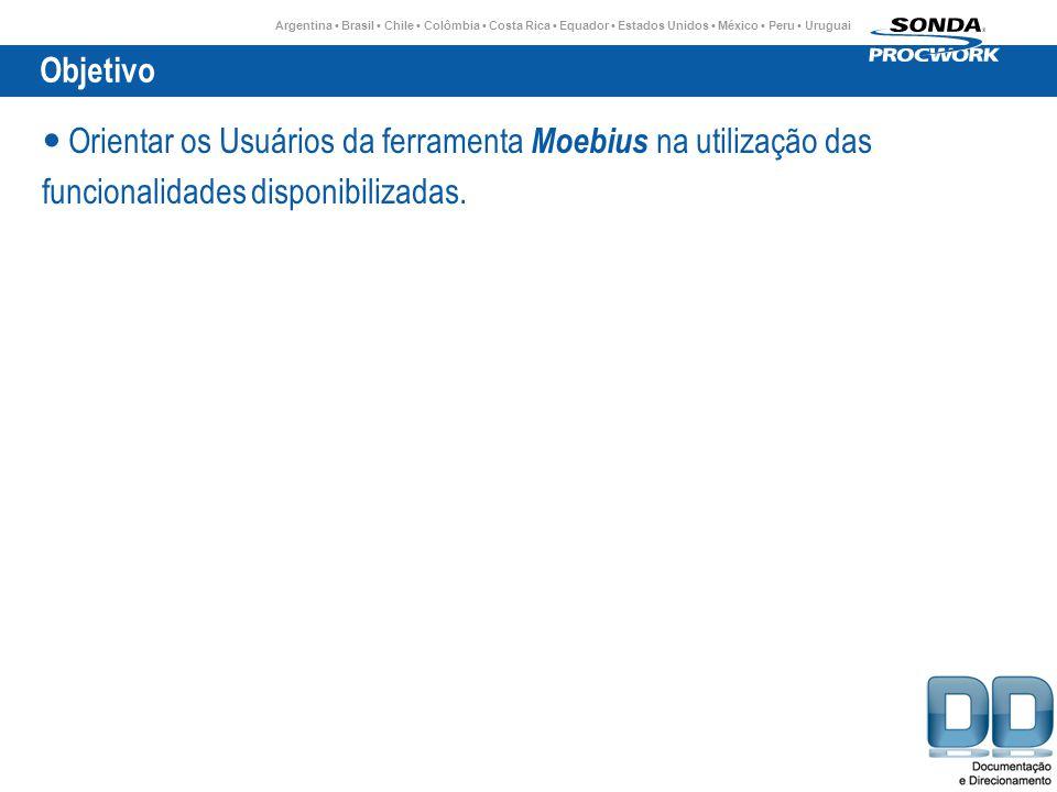 Objetivo Orientar os Usuários da ferramenta Moebius na utilização das.
