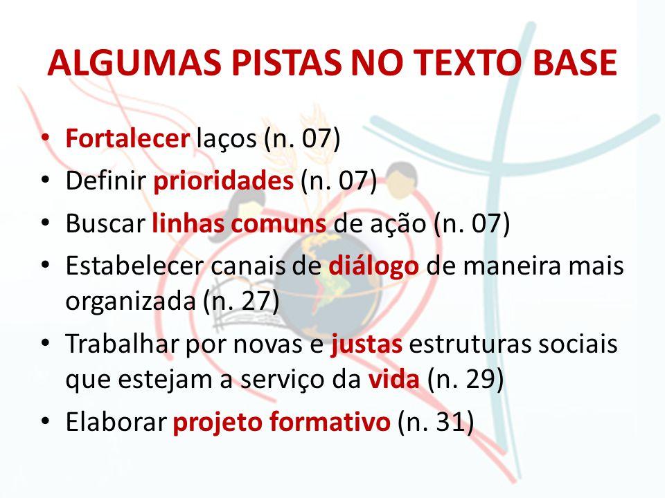 ALGUMAS PISTAS NO TEXTO BASE