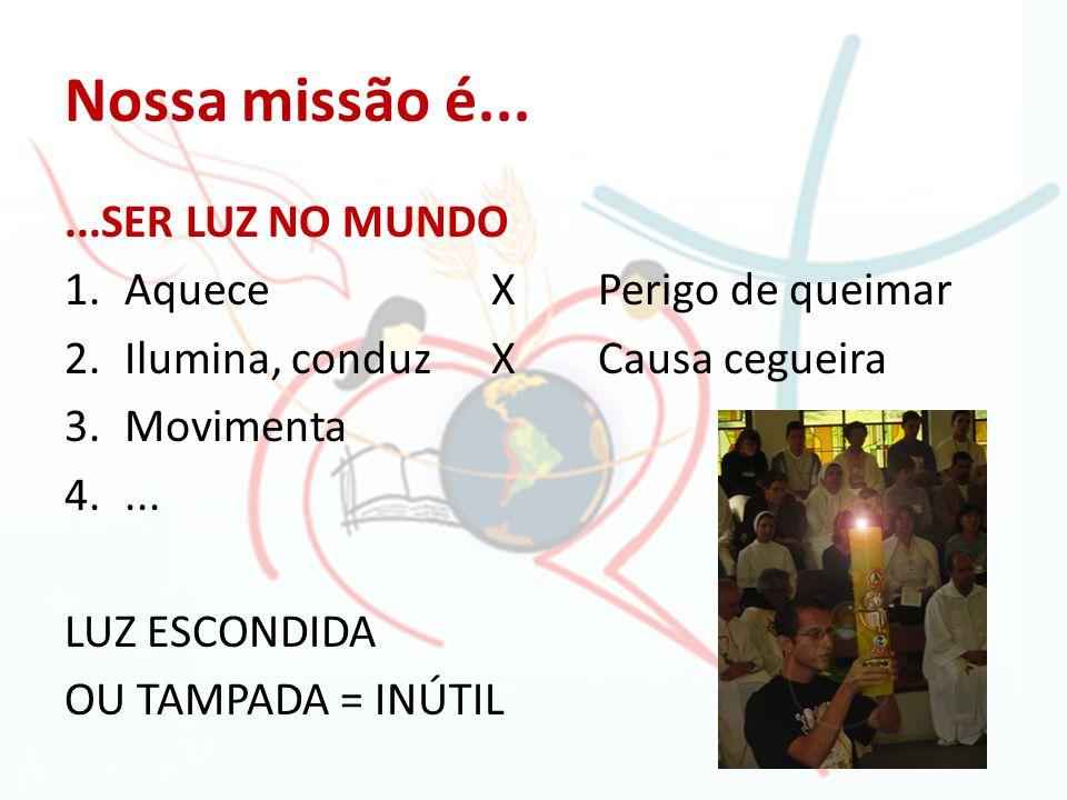 Nossa missão é... ...SER LUZ NO MUNDO Aquece X Perigo de queimar