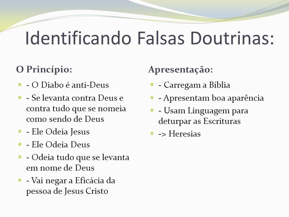 Identificando Falsas Doutrinas:
