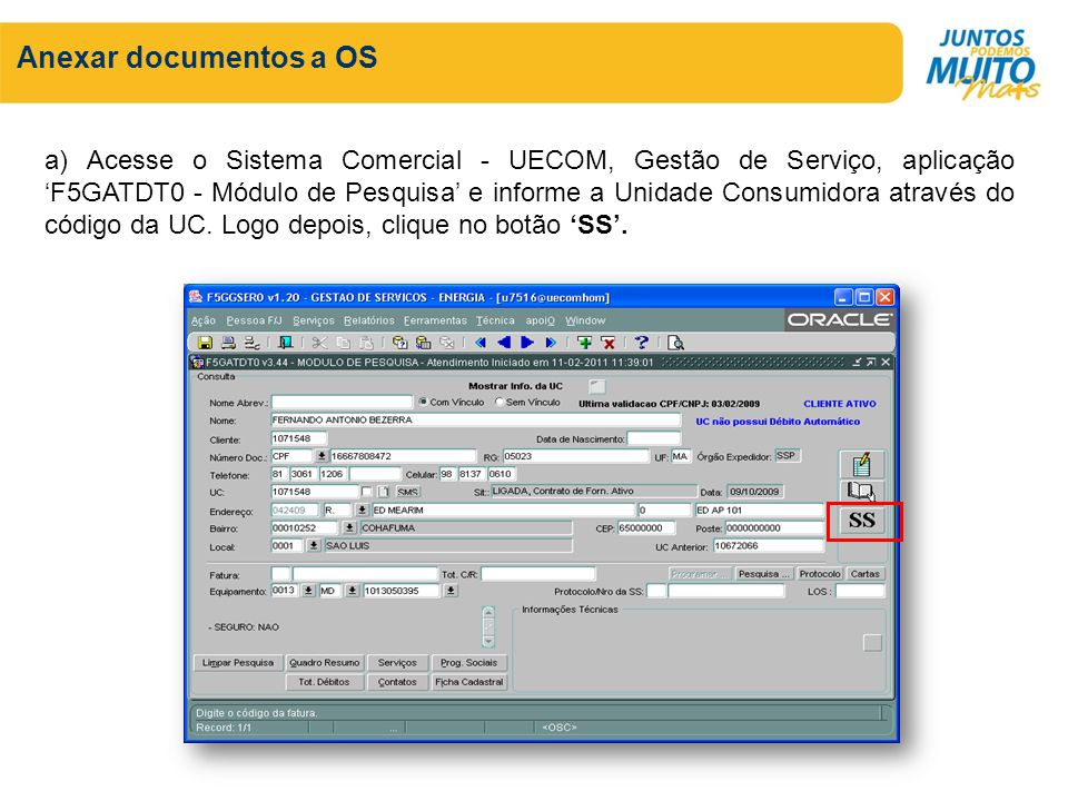 Anexar documentos a OS
